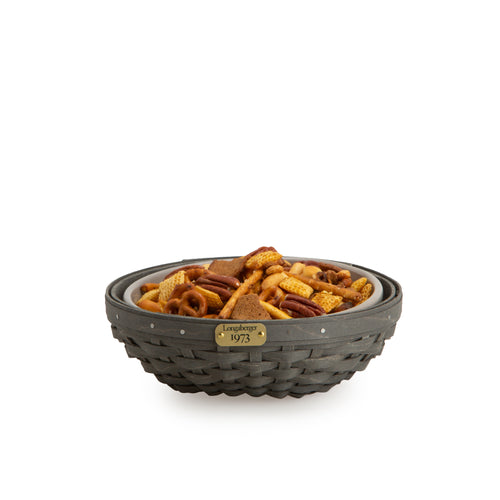 Pewter 1973 Bowl Basket Set