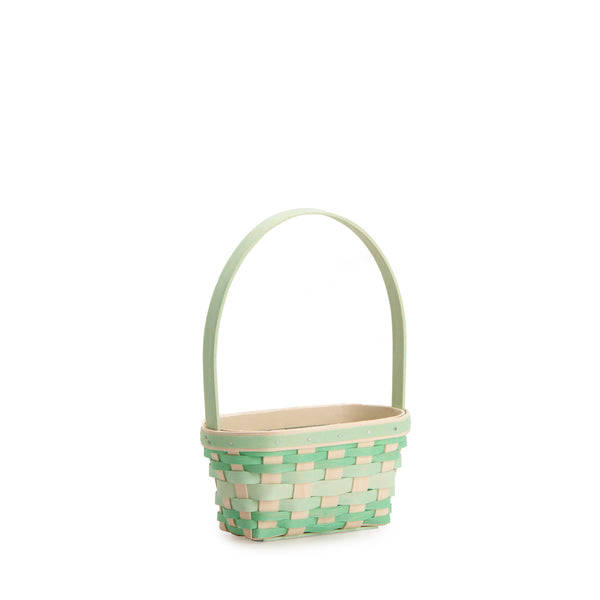 Small Jadeite Easter Basket Set