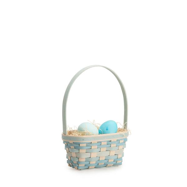 Small Robin's Egg Blue Easter Basket Set