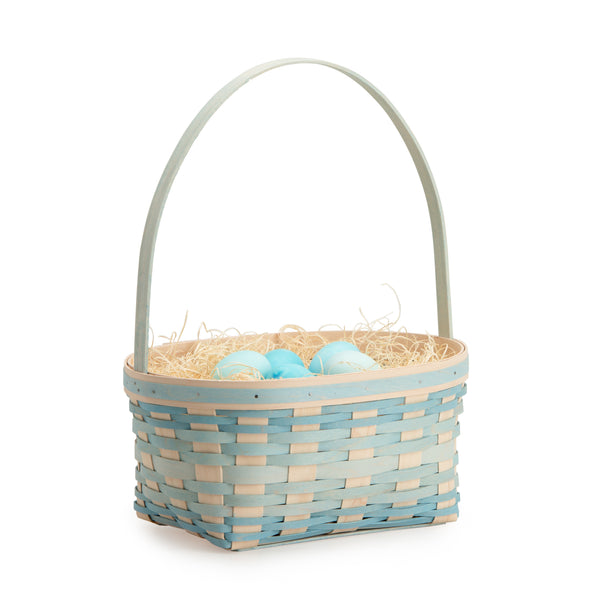 Large Robin's Egg Blue Easter Basket Set