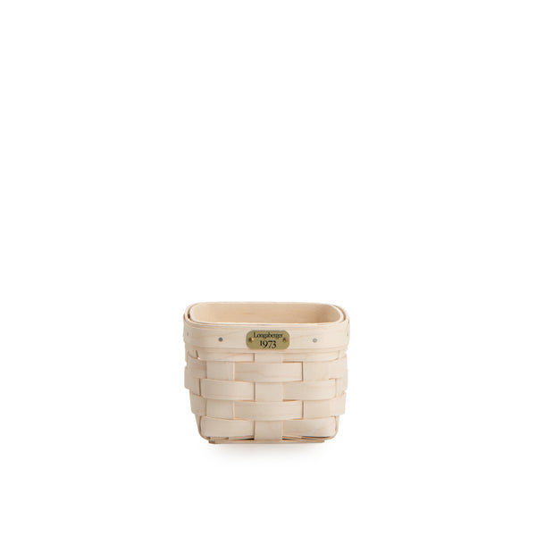 White 1973 Square Organizing Basket Set with Free Protector