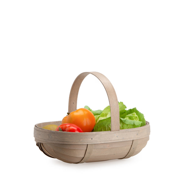 Pale Grey Small Trug Basket Set with Free Protector