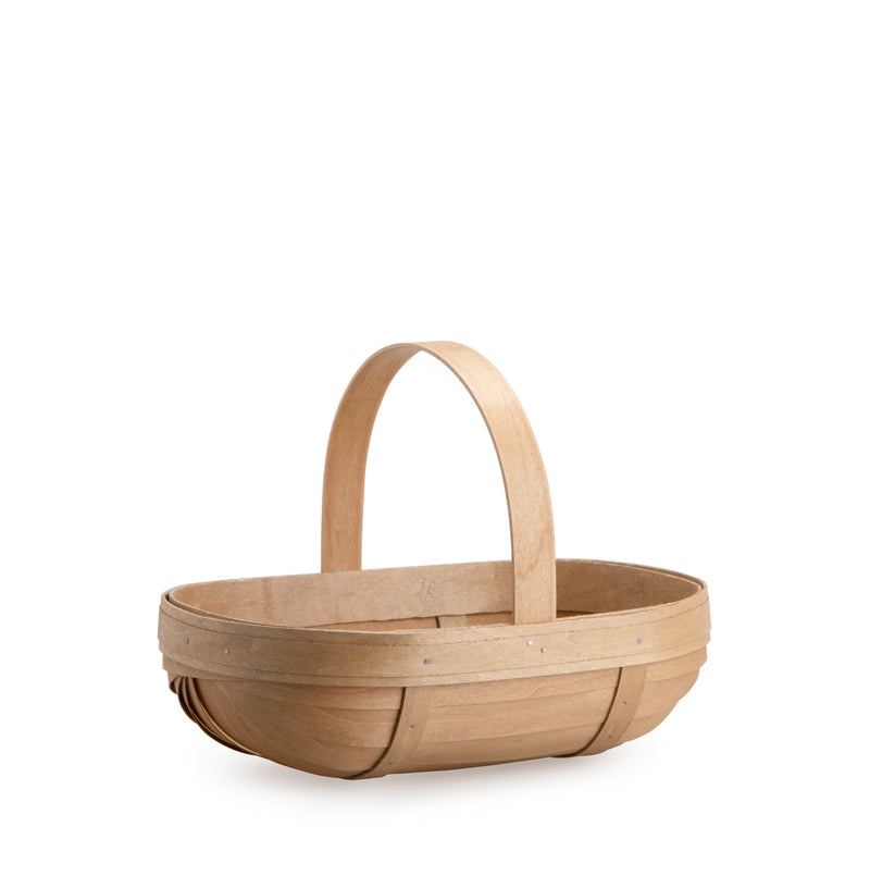 Light Brown Small Trug Basket Set with Free Protector