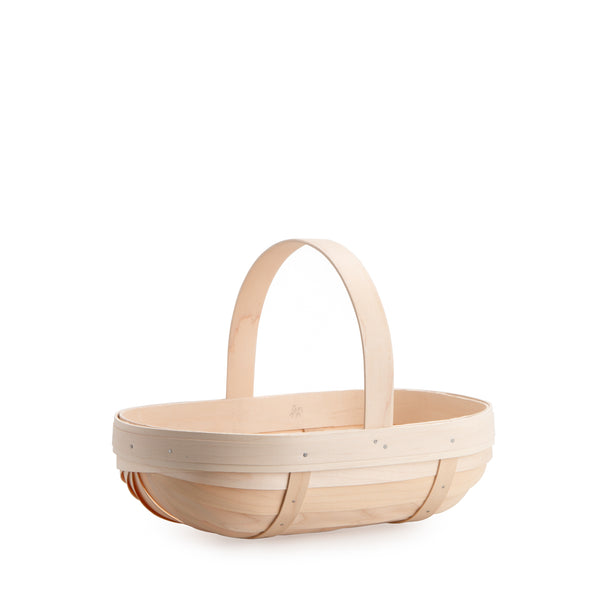 Whitewashed Small Trug Basket Set with Free Protector