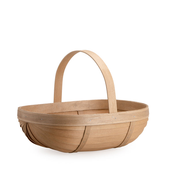 Light Brown Large Trug Basket Set with Free Protector
