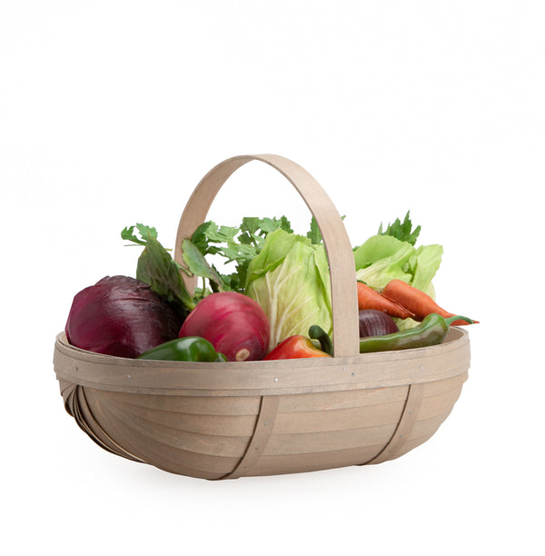 Pale Grey Large Trug Basket Set with Free Protector