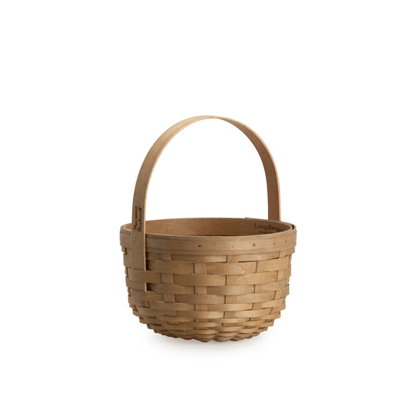 Light Brown Round Mother's Day Basket Set with Free Protector