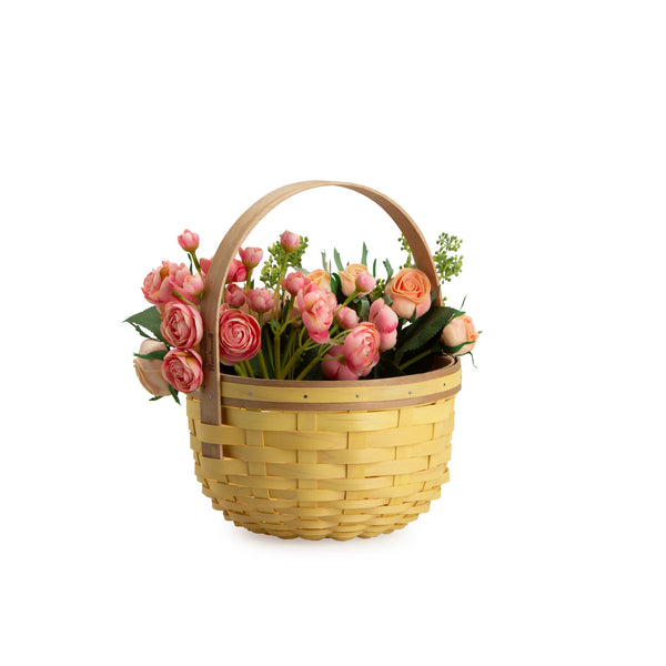 Yellow Round Mother's Day Basket Set with Free Protector