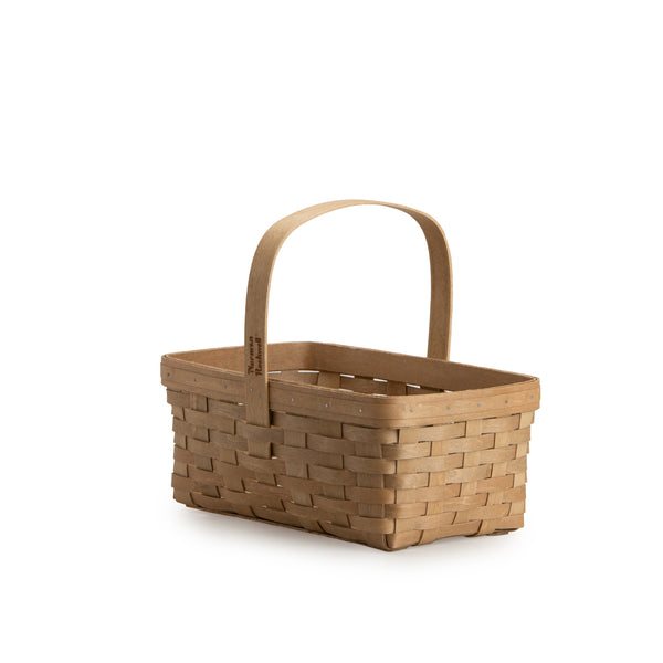 Light Brown Rectangle Mother's Day Basket Set with Free Protector