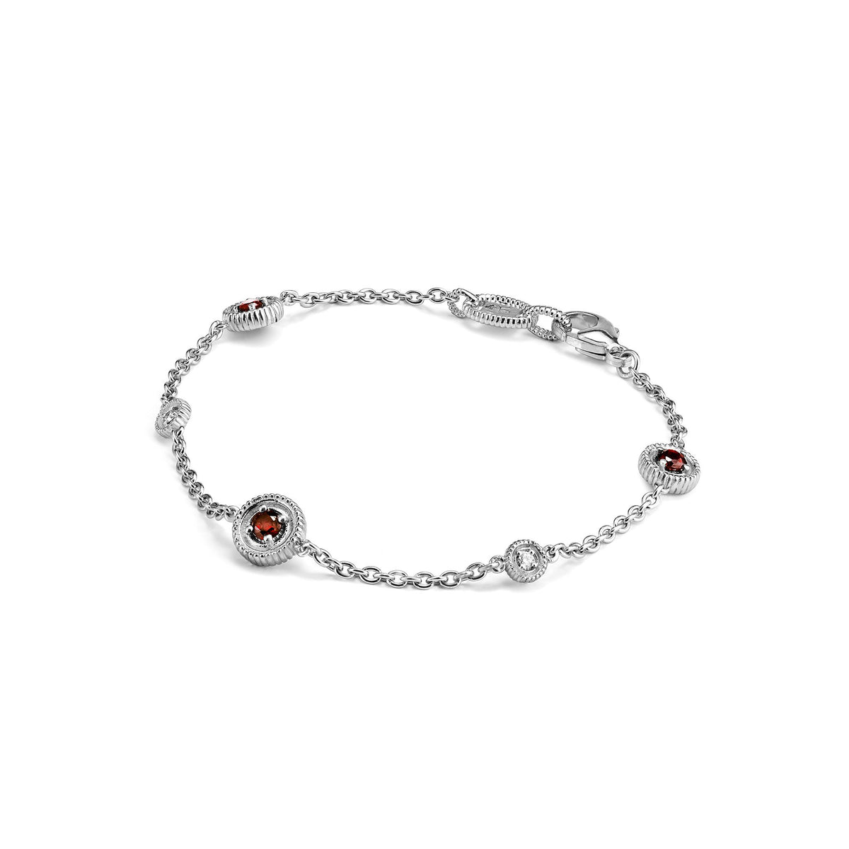Max Bracelet with Garnet and Diamonds