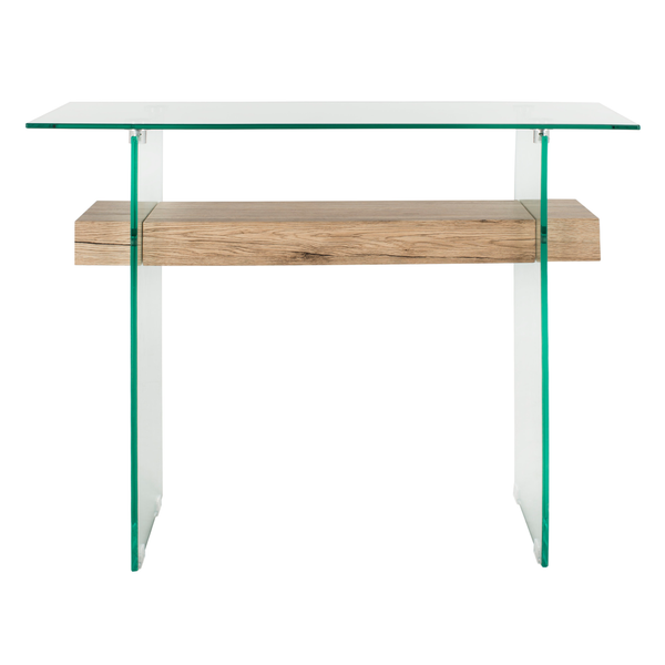Natural & Glass Kayley Console Table