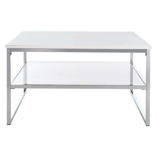 White & Chrome Aliza Coffee Table