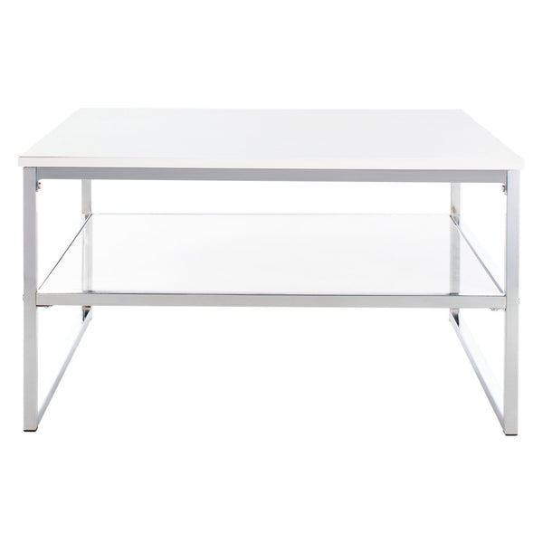White & Chrome Randi Coffee Table
