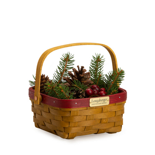 Bold Red Holiday Basket Set