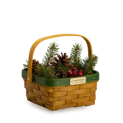 Bold Green Holiday Basket Set
