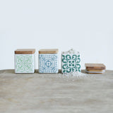 Small Retro Blue & Green Utility Jar Set