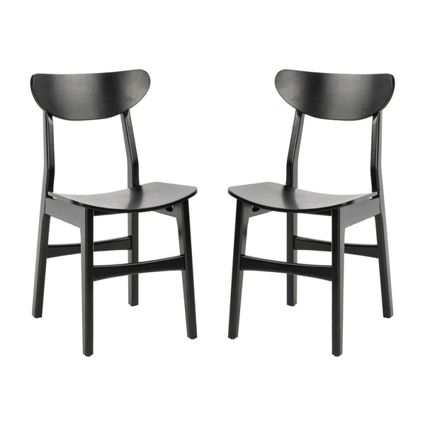 Black Lucca Retro Dining Chair Set