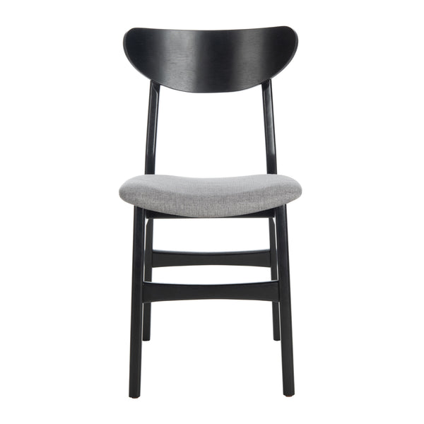 Black & Grey Lucca Retro Dining Chair with Cushion Set