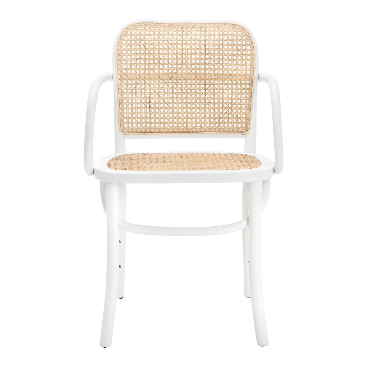 White & Natural Keiko Cane Dining Chair