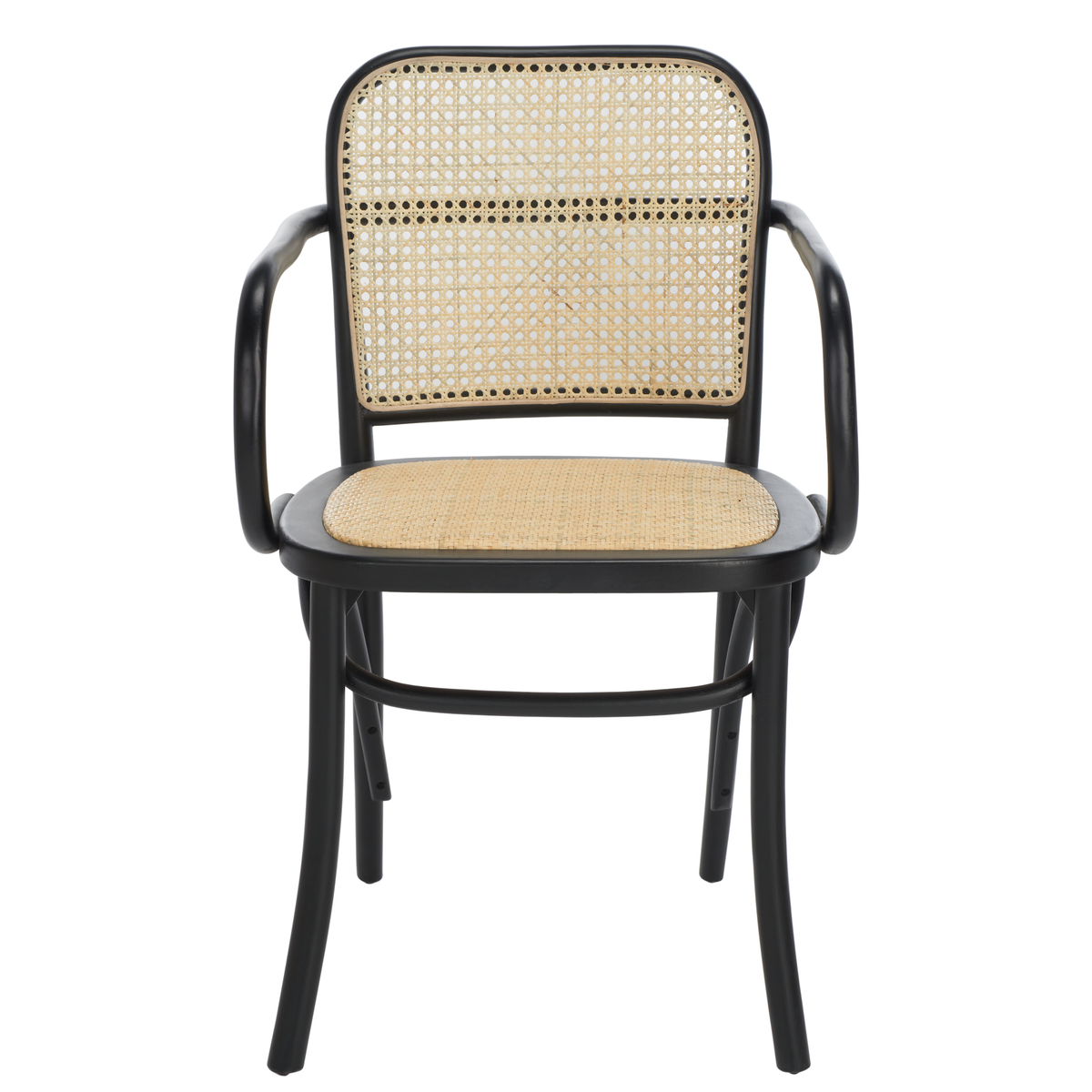 Black & Natural Keiko Cane Dining Chair