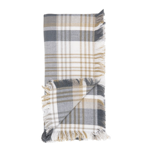 Grey & Tan Plaid Napkin Set