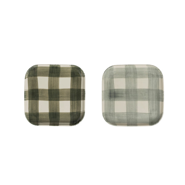 Buffalo Check Stoneware Plate Set