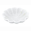 Scalloped White Marble Dish