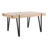Brown Alyssa Rustic Midcentury Wood Top Dining Table