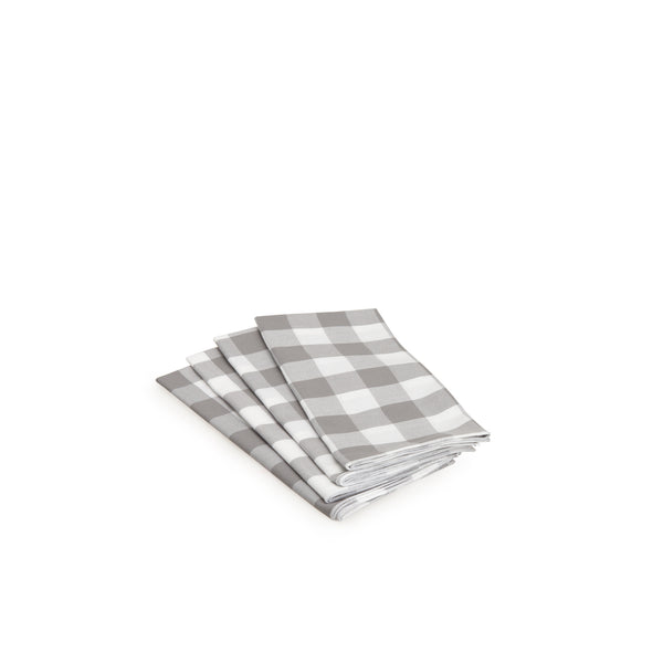 Grey Gingham Napkin Set
