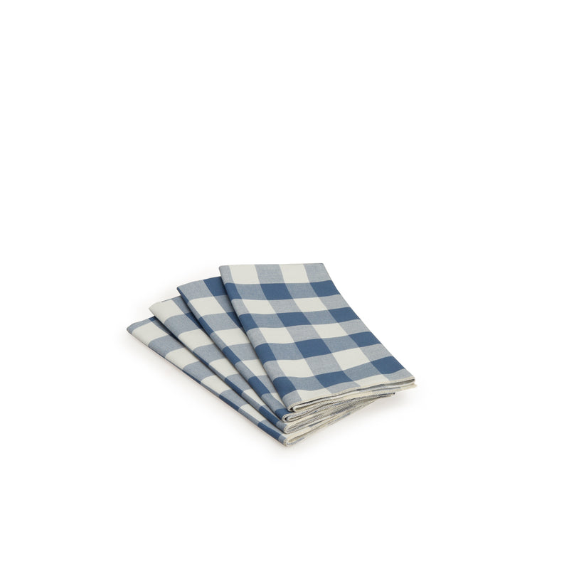 Navy Gingham Napkin Set