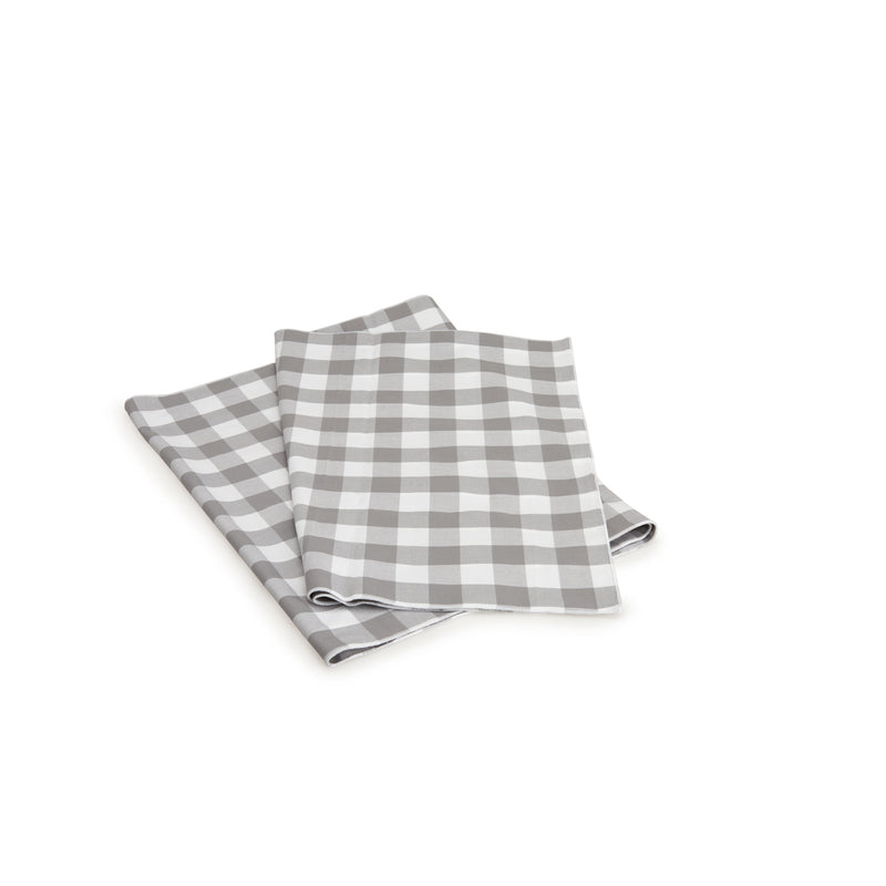 Grey Gingham Table Runner