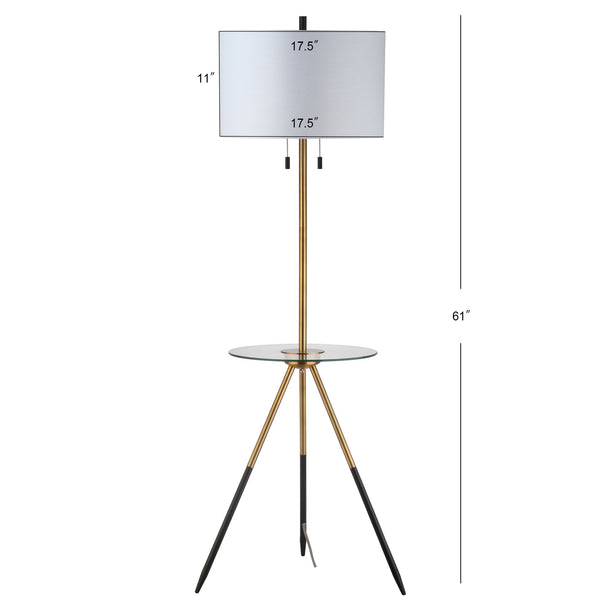 Gold & Black Morrison Floor Lamp Side Table