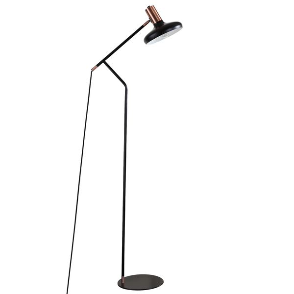Copper & Black Amia Floor Lamp
