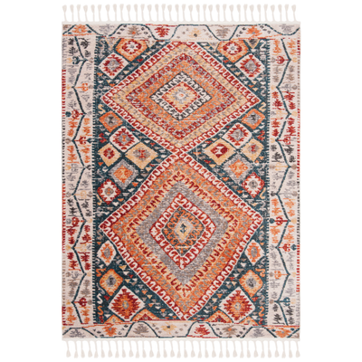 Ivory & Navy Farmhouse Rug