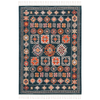 Navy & Orange Farmhouse Rug