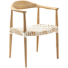 Light Oak Bandelier Arm Chair
