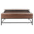 Dark Oak & Black Gina Contemporary Lift-Top Coffee Table