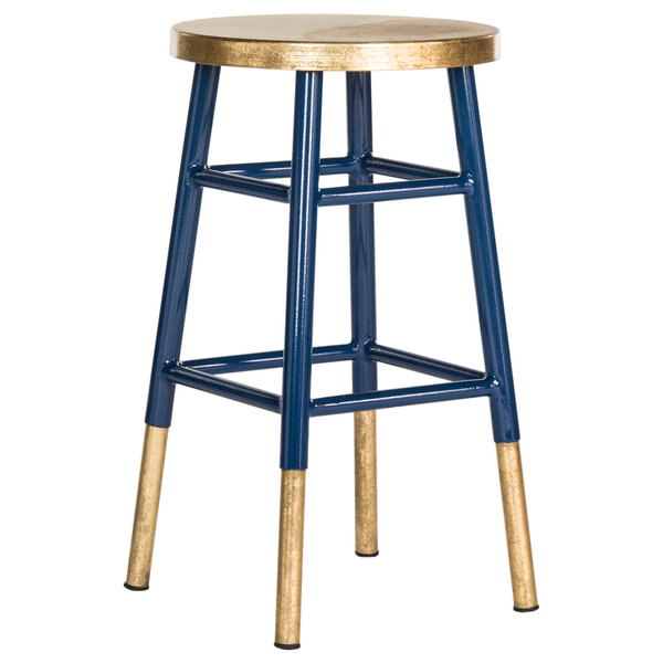 Navy & Gold Emery Counter Stool
