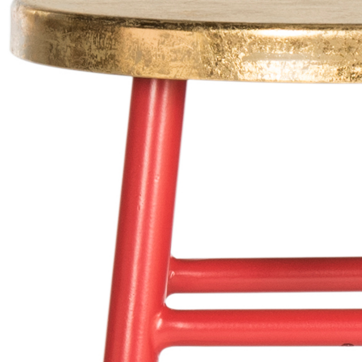 Red & Gold Emery Counter Stool