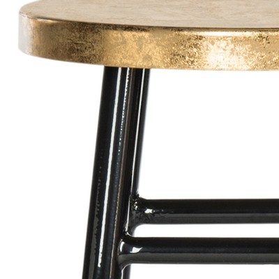 Black & Gold Emery Counter Stool