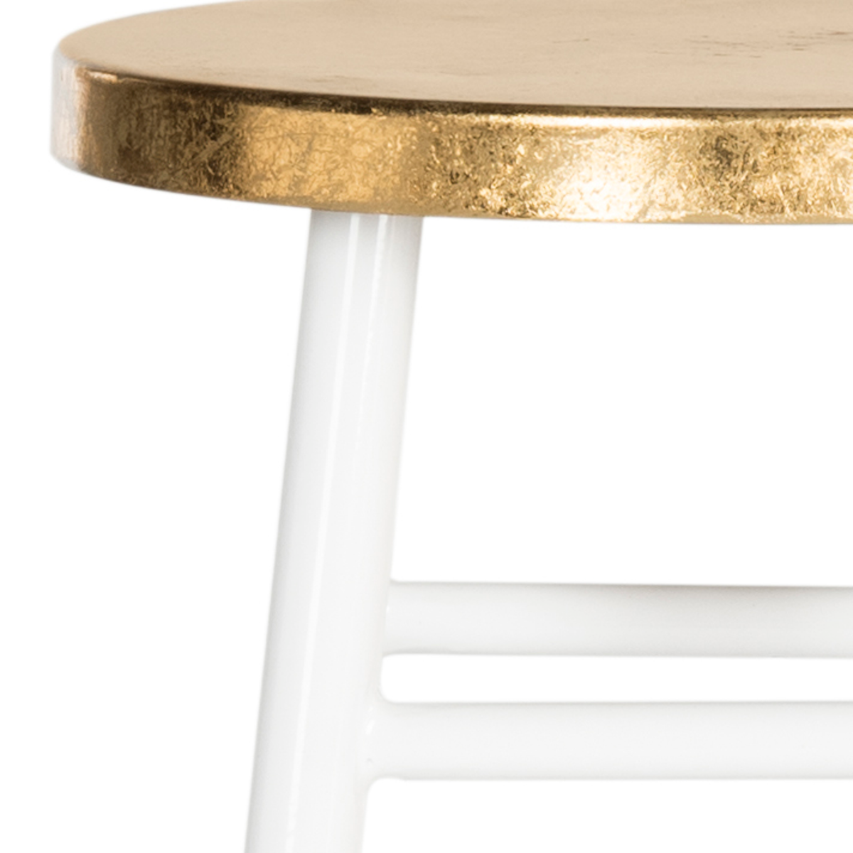 White & Gold Emery Counter Stool