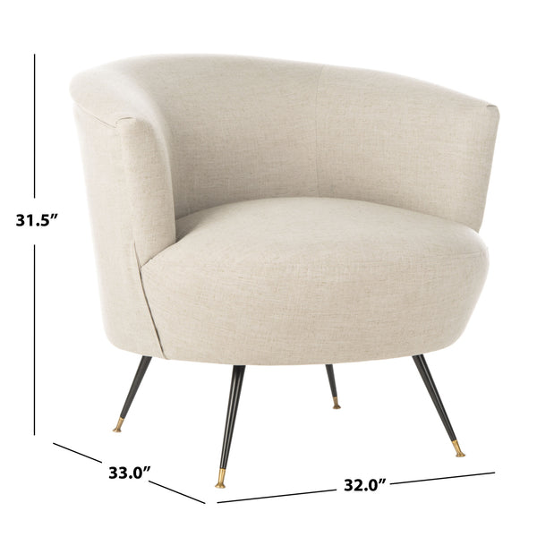Light Grey Arlette Accent Chair