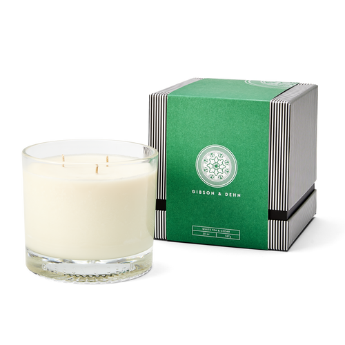 White Tea & Cedar Three Wick Candle