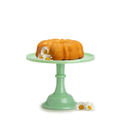 Small Jadeite Marble Cake Stand