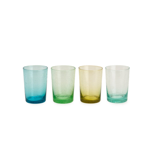 Mixed Color Bubble Drinking Glass Set