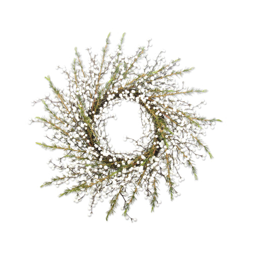 Cedar Wreath with White Berries