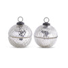 Silver Small Mercury Glass Ornament Candle Set