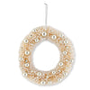 Cream Bottle Brush Wreath with Champagne Ornament