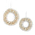 Cream Bottle Brush Wreaths with Champagne Ornament Set