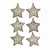 Metal Framed Wooden Star Ornament Set